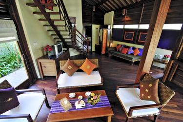 Wohnzimmer in der Cabana