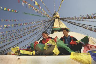 Bonudhanath Stupa in Kathmandu