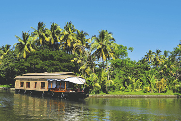 Hausboot durch die Backwaters Kerala