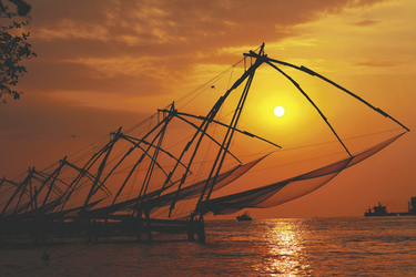 Fischernetze in Kochi, ©Aberkrombie & Kent India