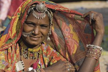Frau von Rajasthan, ©OlegD - Fotolia