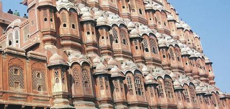Hawa Mahal in der Altstadt von Jaipur