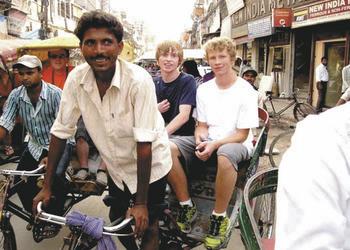 Rikscha Fahrt in Delhi