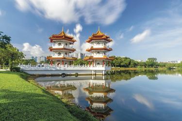Twin Pagode im chinesischen Garten