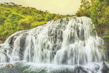 Bakers Wasserfall im Horton Plains Nationalpark