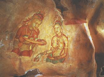 Fresken in Sigiriya