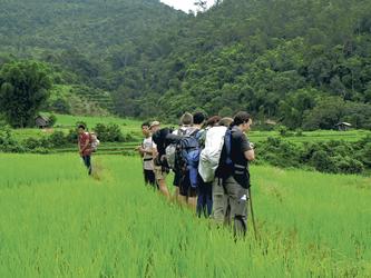 Pause beim Trekking durch Reisfelder, ©foc pc2007