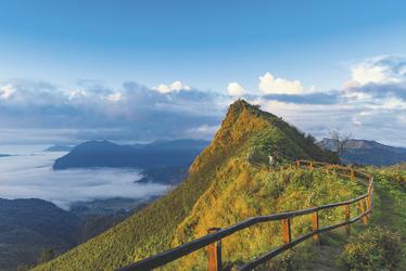 Ausblick vom Phu CHee Dao in Chiang Rai
