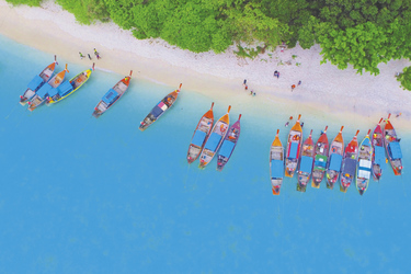 Longtailboote bei Koh Lipe