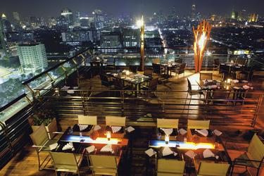 Dachterrasse mit Restaurant
