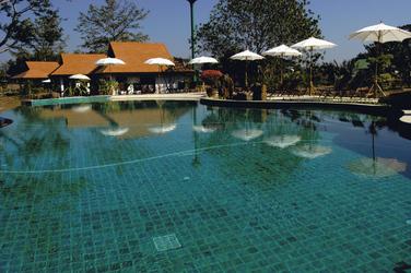 Blick auf den Pool