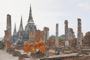 Eine Gruppe von buddhistischen Mönchen
