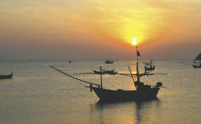 Sonnenuntergang über dem Golf von Thailand, ©Asian Trails