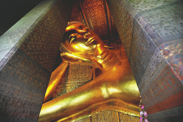 Goldener liegender Buddha im Wat Pho, ©Asian Trails