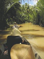 Bootsfahrt im Mekong Delta, ©Sarah Mertin