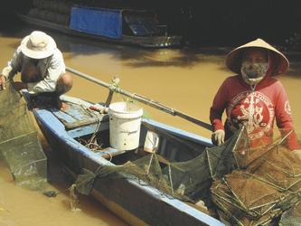 Fischer im Mekong Delta , ©Sarah Mertin
