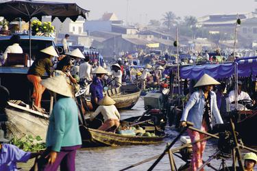 Schwimmender Markt am Mekong Delta, ©Shada Cornelissen PC09 - June