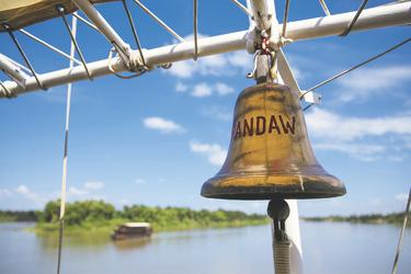 Schiffsglocke der RV Pandaw