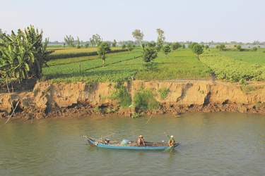 Fischerboot auf dem Mekong