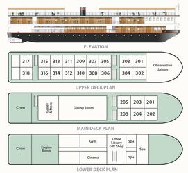 Decksplan der RV Mekong Pandaw