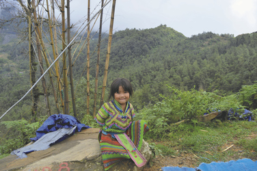 Ein Mädchen aus Sapa