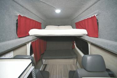 Doppelbett im Hochdach