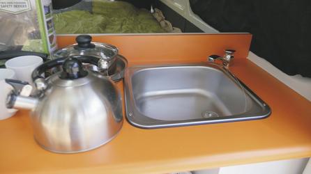 Spüle mit Kaltwasser