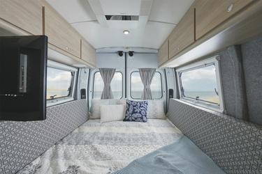 Umbaubar in ein Doppelbett