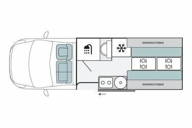2+1 Escape Campervan, Tag-Layout