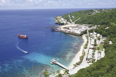 Ausblick auf Flying Fish Cove