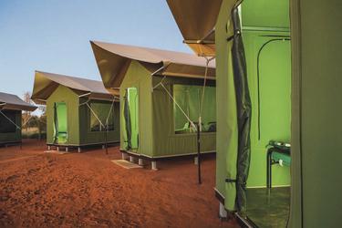 Zelte im Ayers Rock Camp