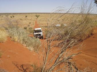 Überquerung einer Sanddüne