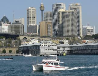 Enigma X im Hafen von Sydney