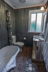 Badezimmer im Moo Manor, ©Blue Mountains Lithgow & Oberon Tourism Old Leura Dairy