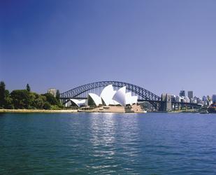 Blick auf die Oper und Harbour Bridge