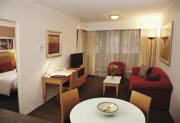 Getrennte Wohn- und Schlafräume im Apartment