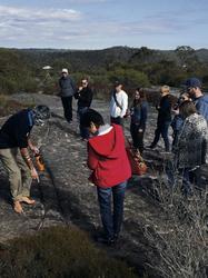Besuch der Aboriginal Fels Gravuren
