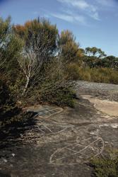 Aboriginal Fels Gravuren