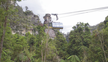 Seilbahnfahrt in den Blue Mountains