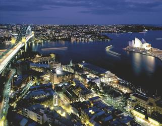 Blick vom Shangri-La Hotel Sydney