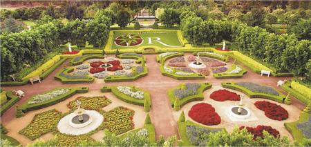 Teil der Gartenanlage
