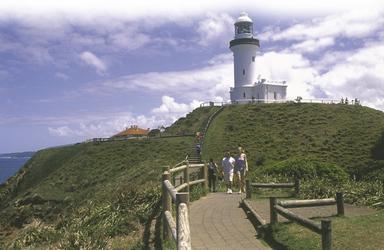 Am Leuchtturm von Byron Bay