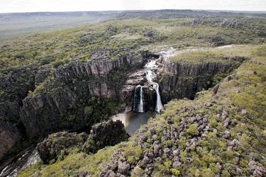 Blick auf die Twin Falls
