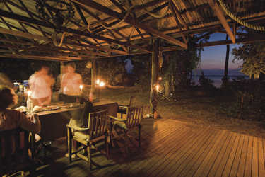 Abendessen im Coastal Camp