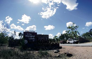 Eingang zum Kakadu Nationalpark