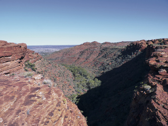 Blick in den Kings Canyon
