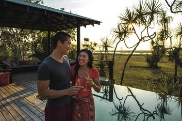 Abendstimmung beim Pool, ©Peter Eve/Tourism NT