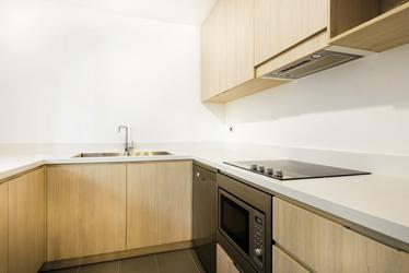 Küche im 1 Schlafzimmer Apartment