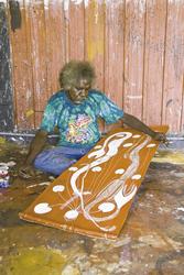 Aborigine und seine Kunst