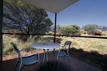 Terrasse eines Deluxe-Zimmers